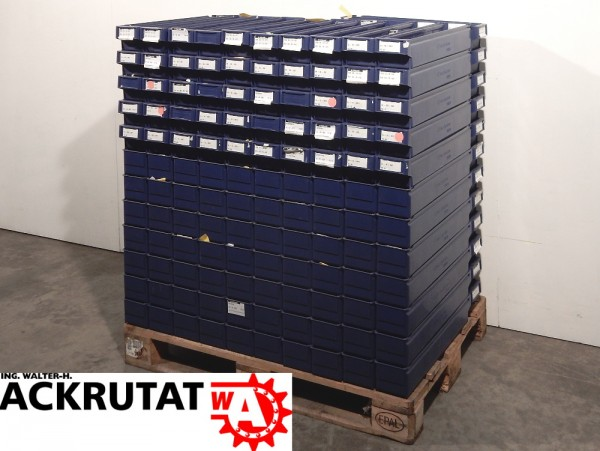 143 St. Schoeller Arca 9131 blau Regalkästen Sichtlagerkiste Stapelkasten Box