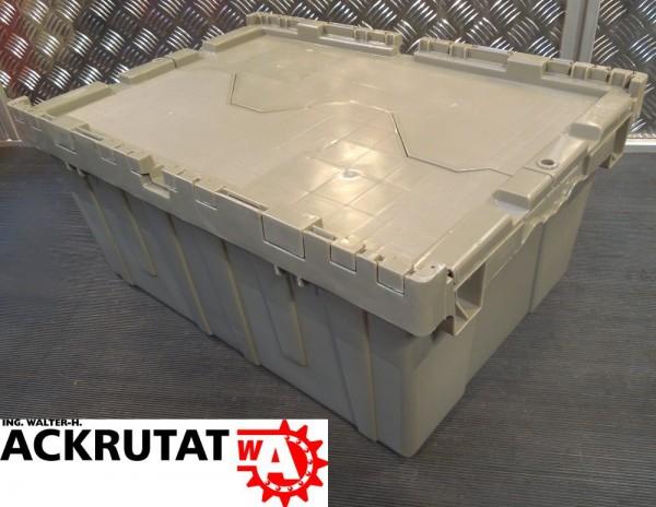 1 Monoflo Industriebox Deckelbox Stapelbehälter Behälter Kiste Kunststoffkiste