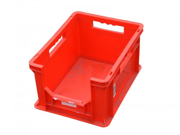 Kunststoffkiste stapelbar rot mit Griffen Lagerkiste