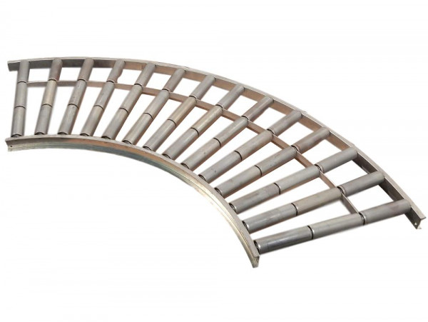 Rollenbahnkurve 90° Förderkurve Kurvenrollenbahn Förderbandkurve Stahl verzinkt