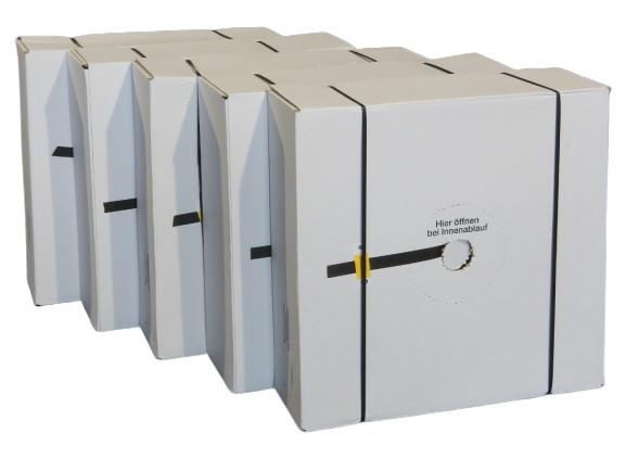 5 St. Umreifungsband Spenderkarton 12mm x 1000m Handumreifung Verpackungsband