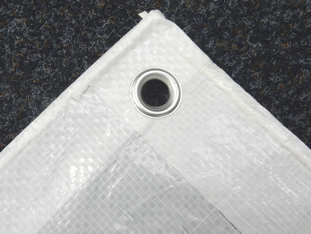 Kunstoff-Abdeckplane weiß 6 x 10 m Gewebeplane lichtdurchlässig Kunststoffplane