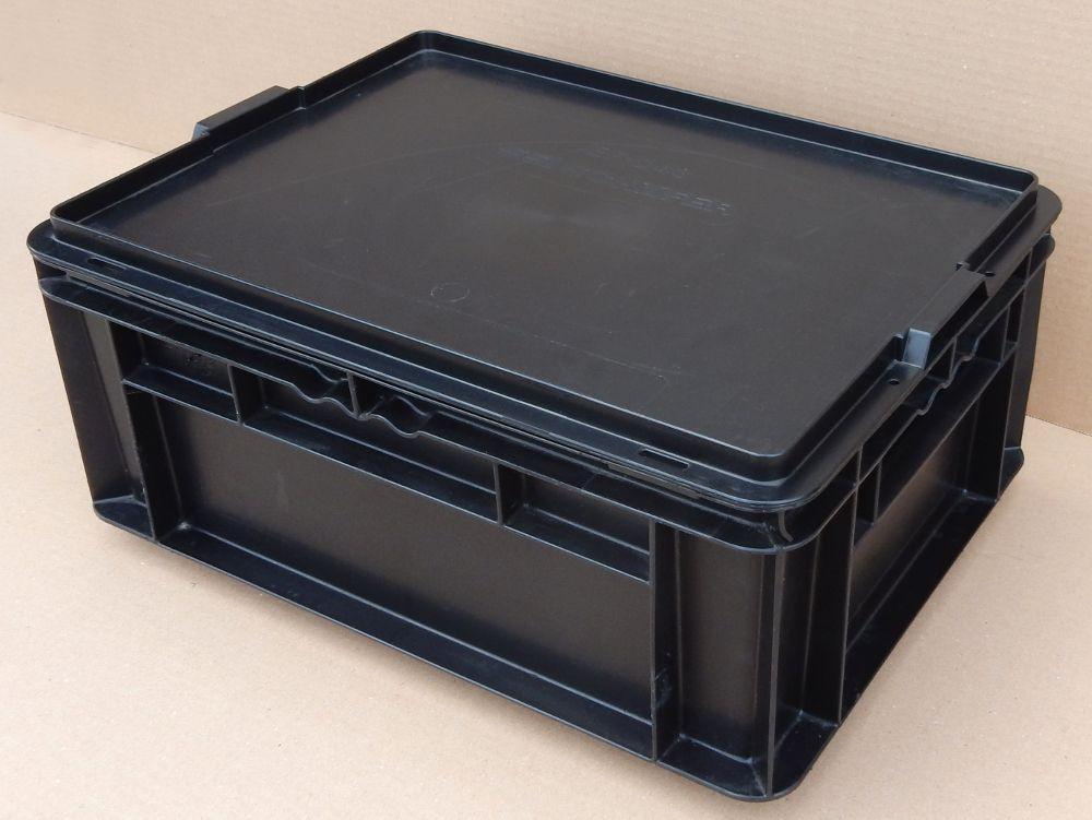 40 lagerk sten sch fer ef 4170 pp stapelbar deckel lagerk sten transportbox ebay. Black Bedroom Furniture Sets. Home Design Ideas