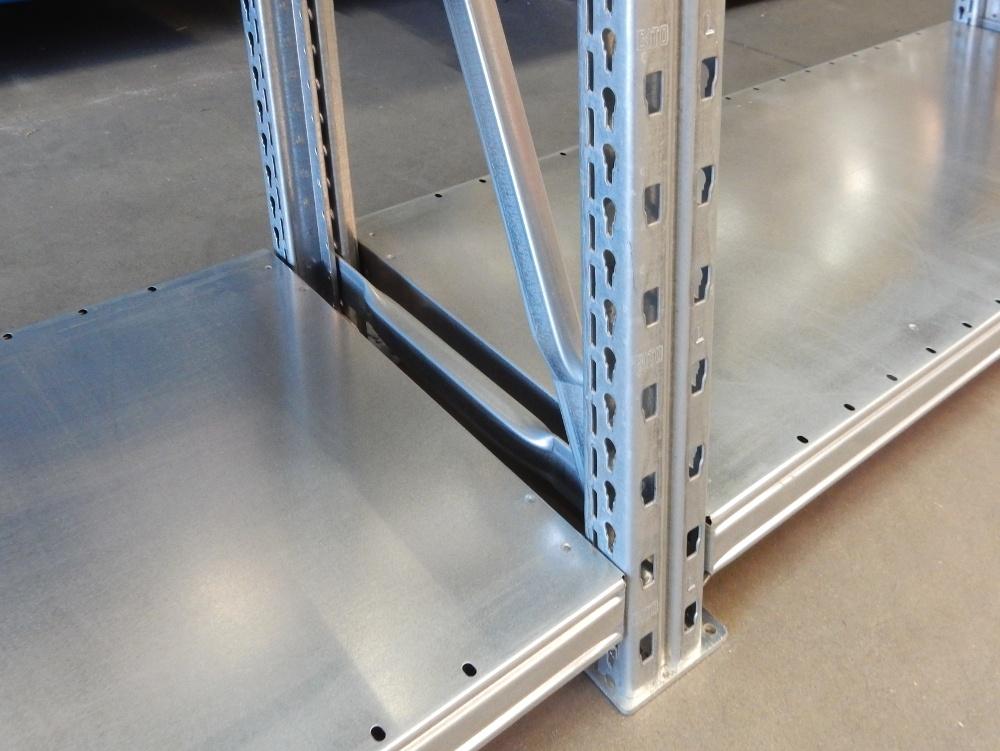 Bito l lagerregal breite 4 3 m stahlregal verzinkt t 400 for Fachwerkrahmen stahl