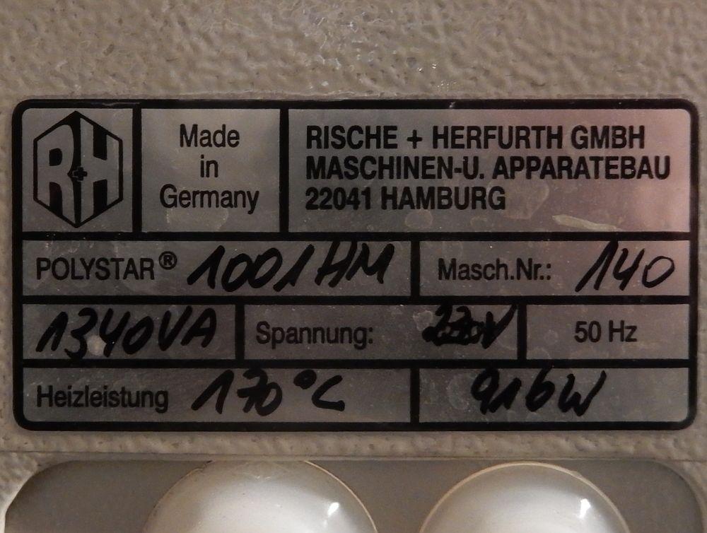 Herfurth Gmbh polystar 1001 hm magnet folienschweißgerät 230v schweißnahtlänge