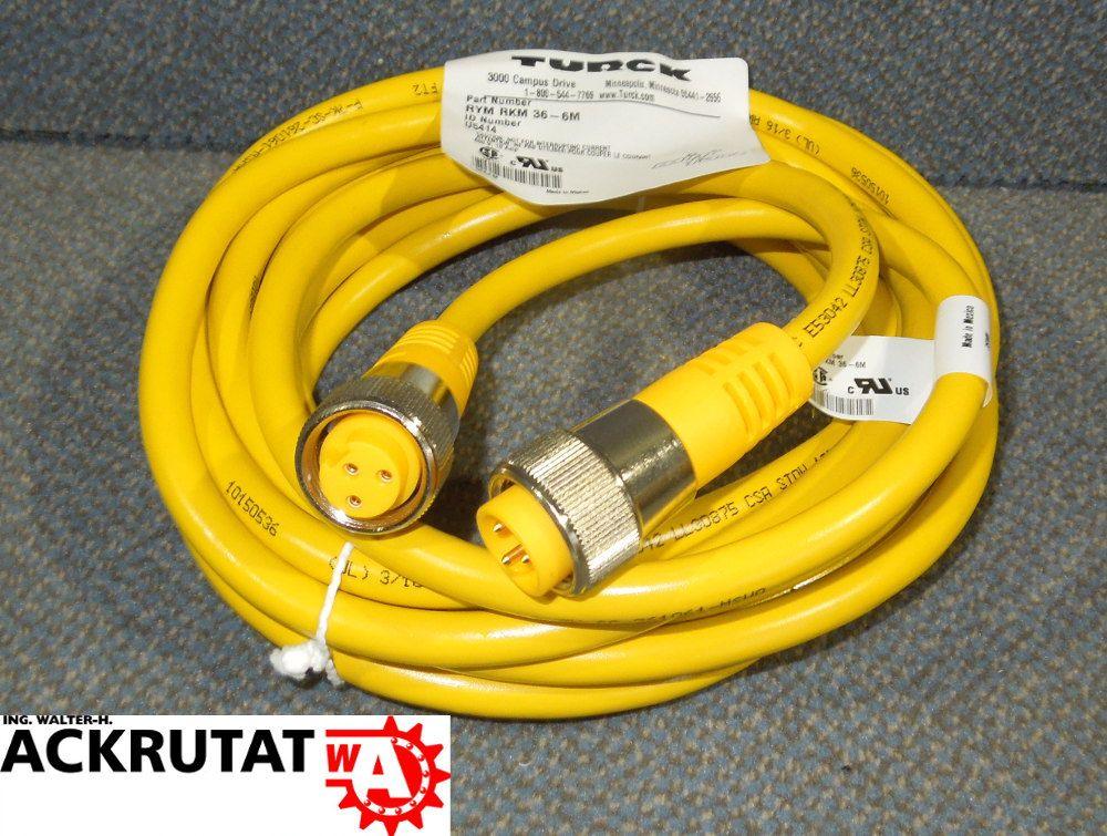 Turck RYM RKM 36-6M mini fast Kabel Stecker Datenkabel 3 Pol 6m | eBay