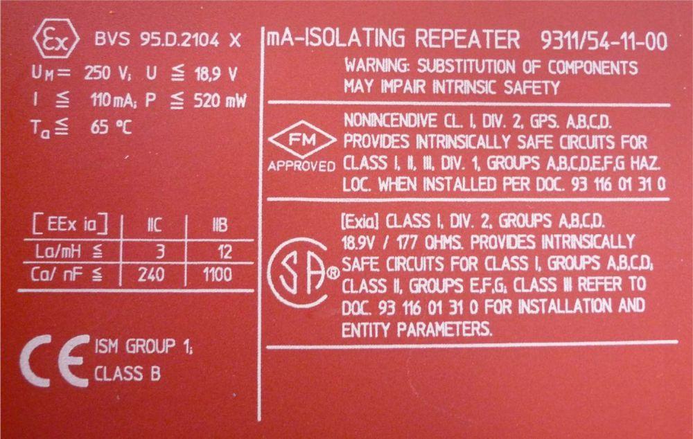 STAHL ICS PAK 9311/54-11-00 Trennübertrager TOP | eBay