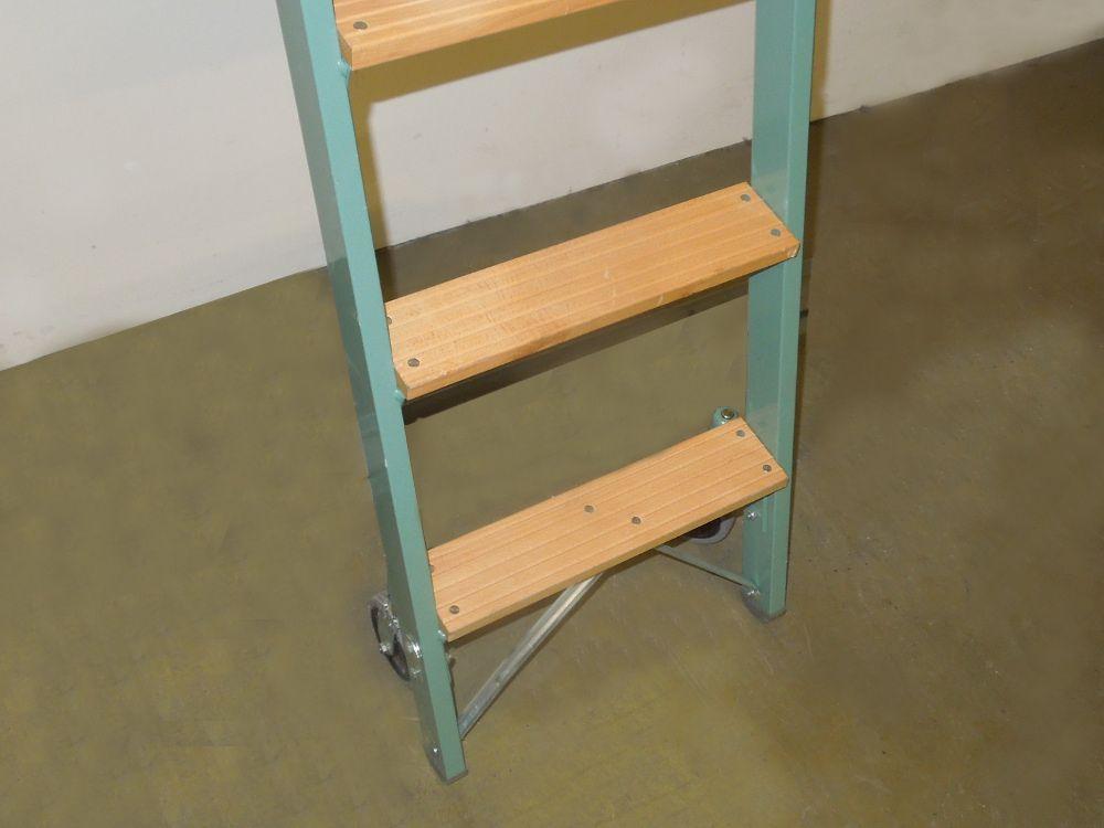 haca regalleiter einh ngeleiter leiter 9 stufen rollleiter ebay. Black Bedroom Furniture Sets. Home Design Ideas